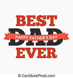 Happy father's day illustration vector template, design for...