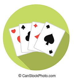 Playing Cards Deck - Casino Playing Cards Deck Flat Style...
