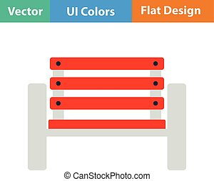Tennis player bench icon Flat design Vector illustration