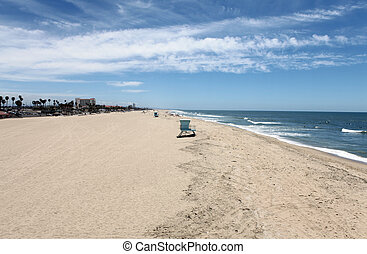 Huntington Beach California - Wide open sand and frolicking...
