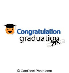 Congratulation graduation on white