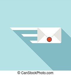 Sending a message icon, flat style