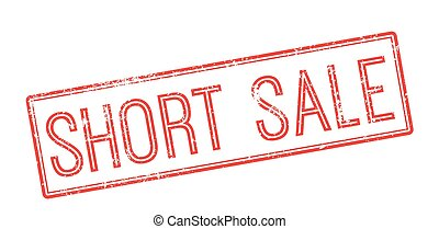 Short sale red rubber stamp on white Print, impress,...