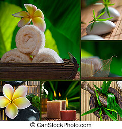 Spa theme collage composed of a few