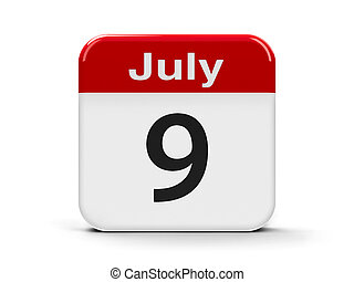 9th July - Calendar web button - The Ninth of July -...