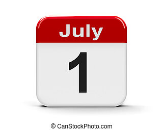 1st July - Calendar web button - The First of July - Canada...