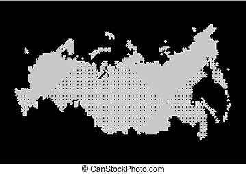 map of russia. illustration geography vector cartography,...