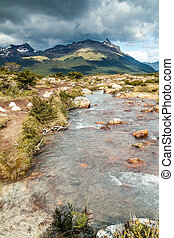 Creek in Tierra del Fuego, Argentina