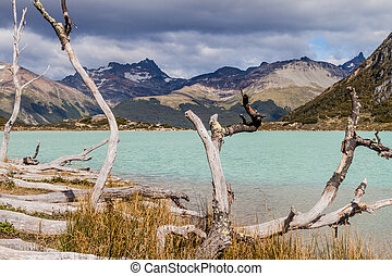Laguna Esmeralda - View of Laguna Esmeralda Emerald lake at...