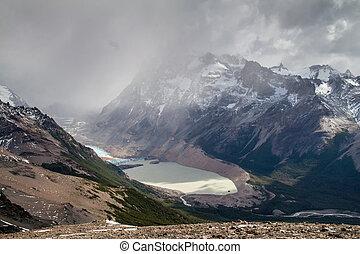 Laguna Torre lake in National Park Los Glaciares, Patagonia,...