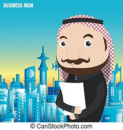 Arab Businessman and hipster from vector
