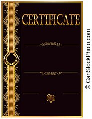 Elegant template of certificate, diploma with decoration of...