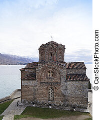 St John at Kaneo church in Ohrid, Macedonia