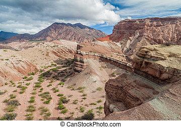 Quebrada de Cafayate - Colorful rock formations in Quebrada...
