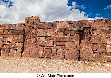 Ruinas, de, Tiwanaku,