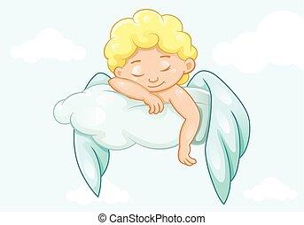 Cute sleeping little angel