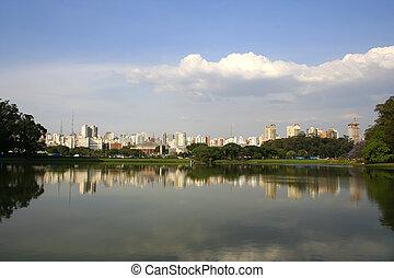 Sao Paulo - Skyline of Sao Paulo, Brasil.