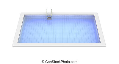 Swimming Pool - 3D rendered Illustration. Isolated on white.