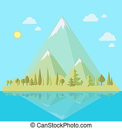 Island with mountains