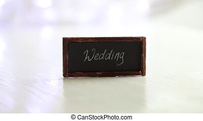 Wedding inscription on the label - Wedding idea -...