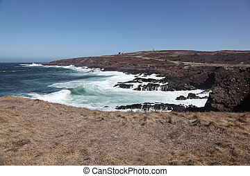 Rocky Beach and cliffs, Cape Spear, Newfoundland, Canada
