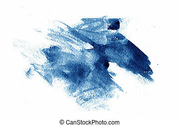 Abstract Paint shape on white background