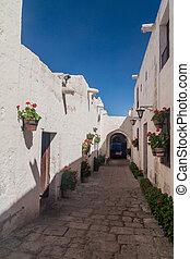 Santa Catalina monastery - Alley with flowers in Santa...