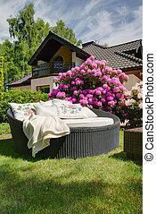 Rest in the garden