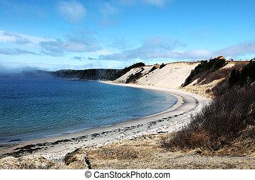 Sandy Beach Landscape In Rural Newfoundland