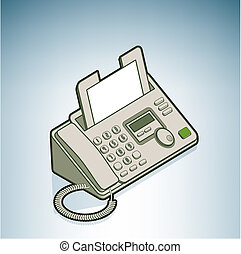 Phone Fax part of the Modern Furniture Isometric 3D Icons...