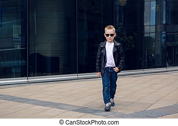 baby boy 7 - 8 years in sunglasses - baby boy 7 - 8 years in...