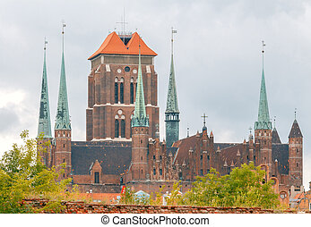 Gdansk St Marys Basilica - St Marys Basilica in the historic...