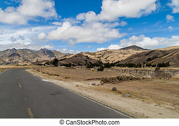 Mountain road between Zumbahua and Quilotoa village, Ecuador