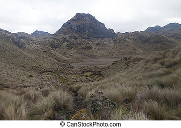 National Park Cajas - Landscape of National Park Cajas,...
