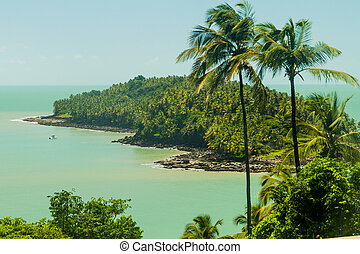 View of Ile du Diable (Devil's Island) from Ile Royale in...