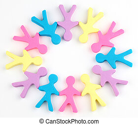 Color people circle - Circle of color people made from...