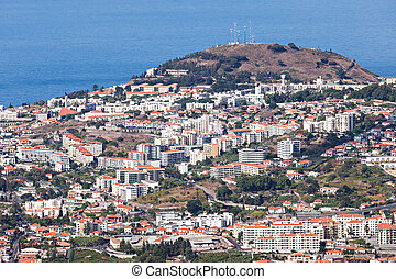 Funchal aerial view, Madeira island, Portugal