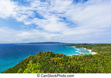 Viewpoint - Aerial view form viewpoint at the Boracay...
