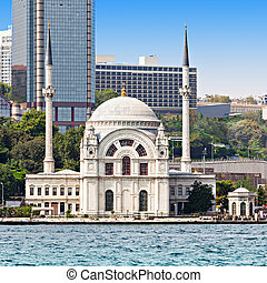 The Dolmabahce Mosque is in Istanbul, Turkey It was...
