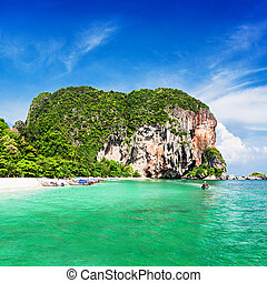 Very beautiful beach with clear water, Thailand