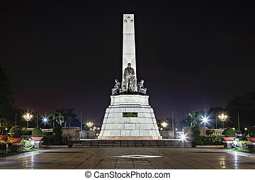 Monument of Jose Rizal - Filipino nationalist, writer and...