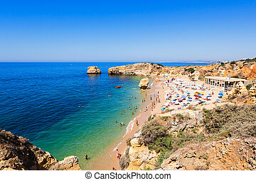 Sao Rafael beach in Albufeira, Algarve region, Portugal
