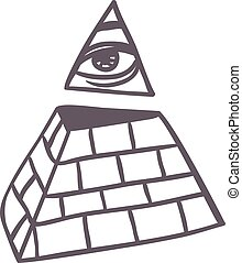 Pyramide vector illustration. - Egypt pyramid vector...