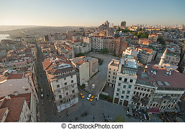 Istanbul - A view from the Galatatower to Istanbul