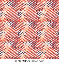 Geometric pattern with striped triangles