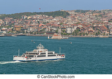 Bosphorus Ferry - Ferry Crossing Bosphorus in Istanbul