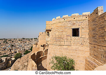 Fort in Jaisalmer, India Jaisalmer the golden city stands on...