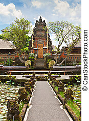 Pura Saraswati temple at the lovey village of Ubud, Bali,...