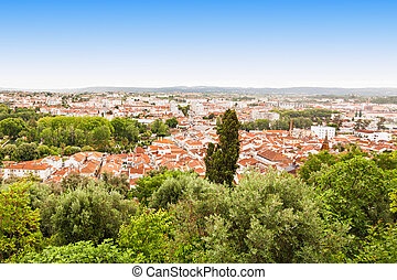 Tomar panorama view, Santarem District in Portugal