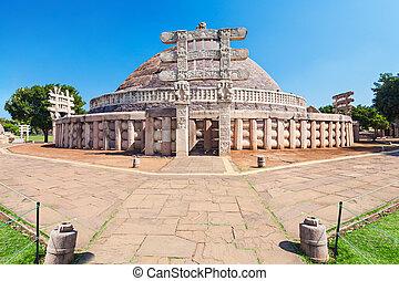 Sanchi Stupa, India - Sanchi Stupa is located at Sanchi...
